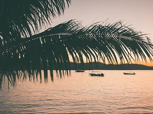 Island sunset in Panama