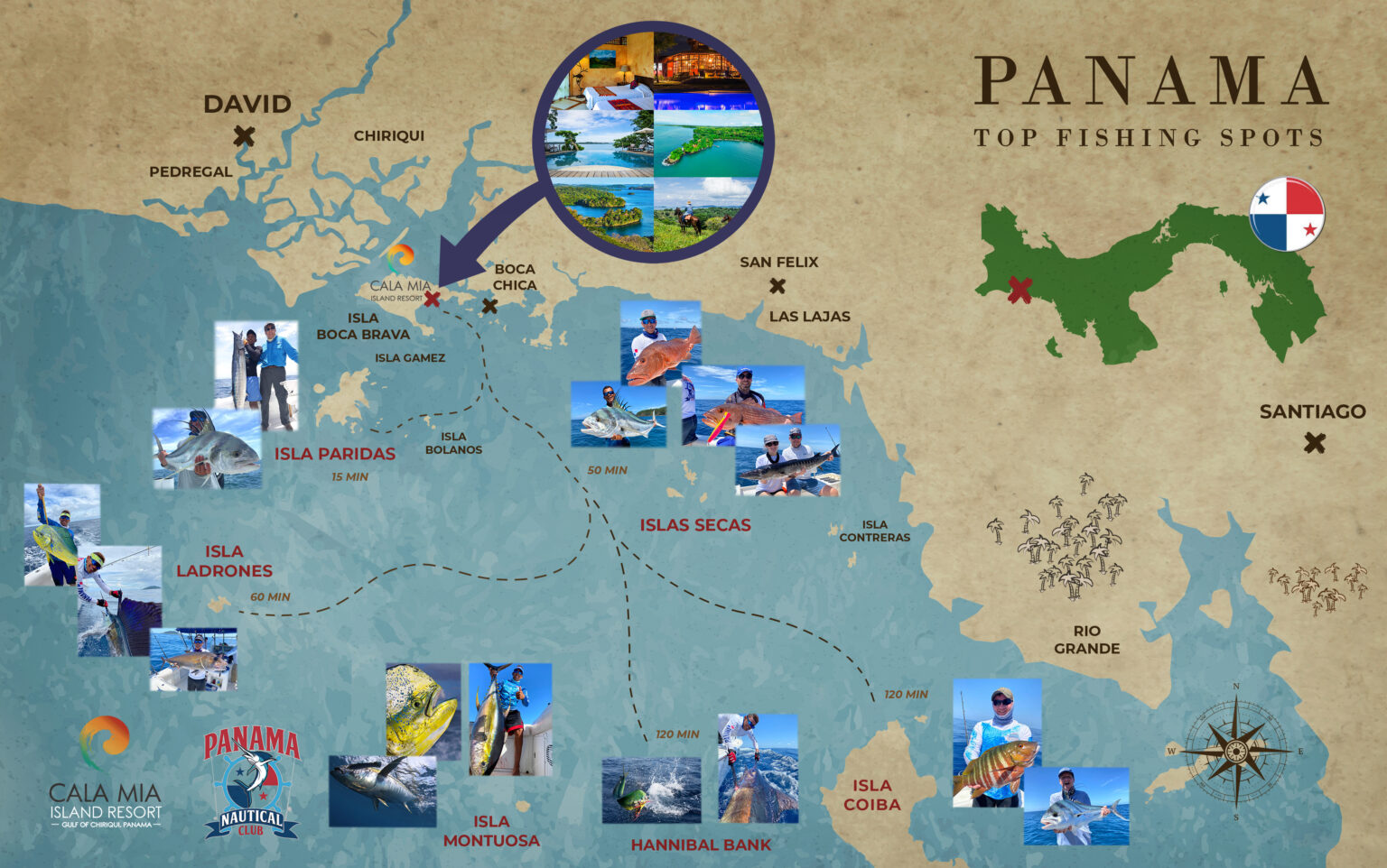 panama fishing map