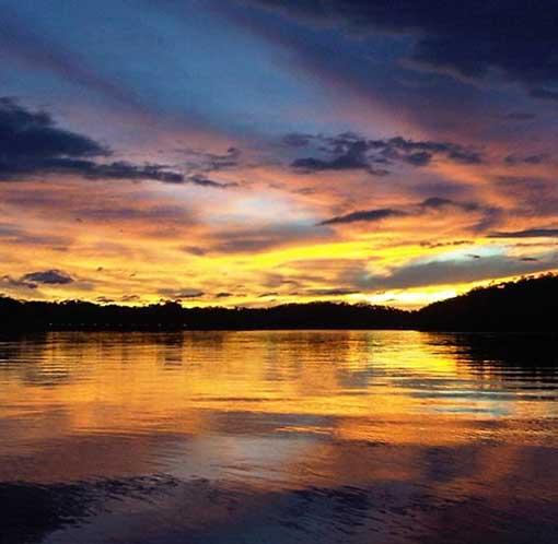 island sunset panama
