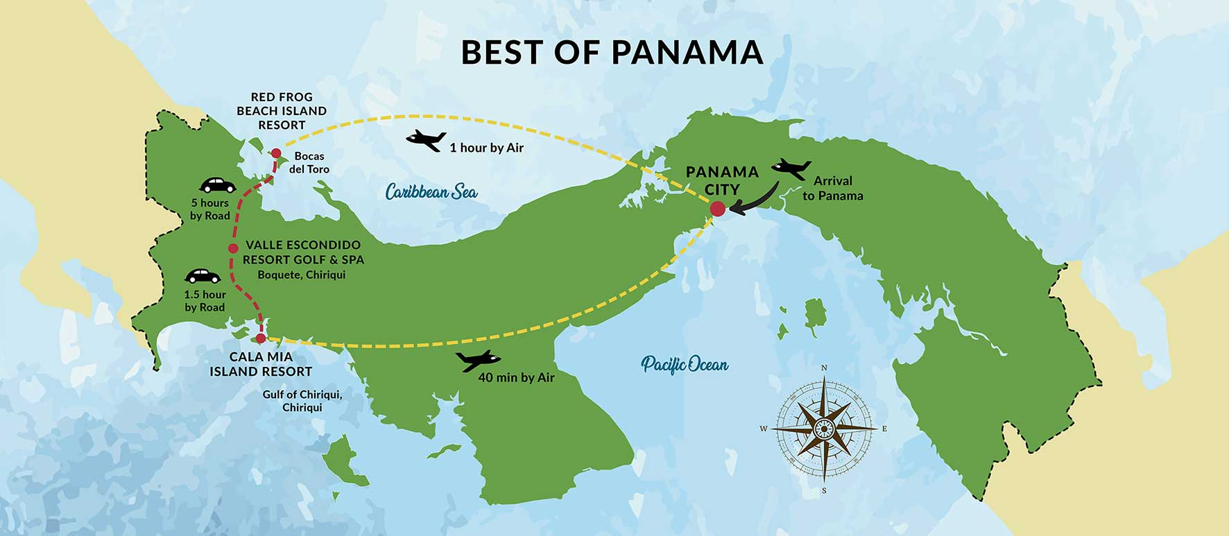 Map Best Resorts in Panama 2021